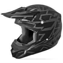 Capacete Cross Fly Kinetic Block Out Preto Fosco - Fly racing
