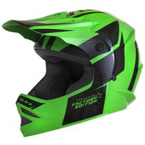 Capacete Cross Kids Factory Edition Preto E Verde Pro Tork -