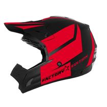 Capacete Cross Th1 Factory Edition Neon Blood Red Pro Tork