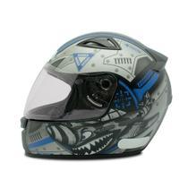 Capacete de Moto Ebf Spark New Spark Air Azul Fosco -