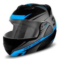 Capacete de moto escamoteavel pro tork v-pro jet 3 azul claro tam 60 -