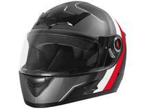 Capacete de Moto Fechado Mixs Helmets - MX5 Super Speed Cinza e Vermelho Tamanho 60