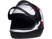 Capacete de Moto Fechado San Marino - FEMME Branco Tamanho 56