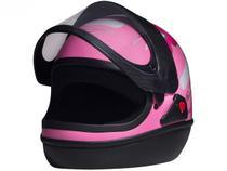 Capacete de Moto Fechado San Marino FEMME - Rosa Tamanho 56