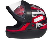 Capacete de Moto Fechado San Marino - GRAFIC Vermelho Tamanho 56