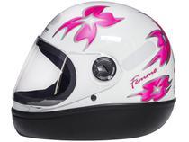 Capacete de Moto Fechado Taurus Fórmula 1 - Femme Branco Tamanho 56