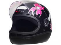 Capacete de Moto Fechado Taurus Fórmula 1 - Femme Preto Tamanho 58
