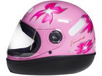 Capacete de Moto Fechado Taurus Fórmula 1 - Femme Rosa Tamanho 58