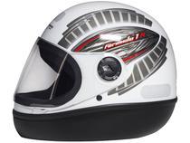 Capacete de Moto Fechado Taurus Fórmula 1 - Grafic Branco Tamanho 58