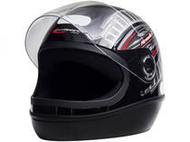 Capacete de Moto Fechado Taurus Fórmula 1 - Grafic Preto Tamanho 56