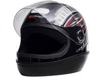 Capacete de Moto Fechado Taurus Fórmula 1 - Grafic Preto Tamanho 60