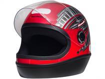 Capacete de Moto Fechado Taurus Fórmula 1 - Grafic Vermelho Tamanho 58