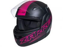 Capacete de Moto Fechado Taurus Zarref - V5 NEON Preto Fosco Tamanho 58