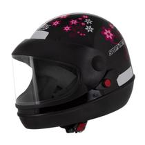 Capacete De Moto Preto/Rosa Sport Moto Automátic Tamanho 58 - Pro Tork