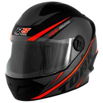 Capacete de moto r8 cinza/vermelho - Pro Tork