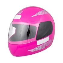 Capacete De Moto Rosa Liberty 4 Para Crianças Tamanho 56 - Pro tork