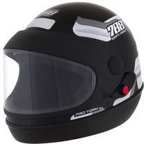 Capacete de moto sport moto preto/branco - Pro tork