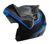 Capacete de moto V-Pro Jet 3 azul - Pro Tork
