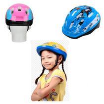 Capacete de protecao infantil bike skate patins 9 furos bicicleta menino menina luxo - Makeda