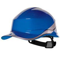 Capacete de Segurança A/B Aba Frontal Baseball Diamond V Azul Botão de Ajuste DELTA PLUS -