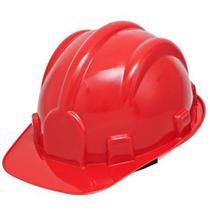 Capacete de Segurança Vermelho com Carneira - PRO SAFETY -