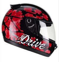 Capacete drive cherry pret/verm tam:58 - Fly