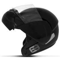 Capacete E8 Robocop N56 Pt Brilho Articulado Com Viseira Ebf -
