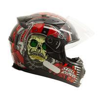 Capacete EBF E0X Skull Preto e Vermelho -