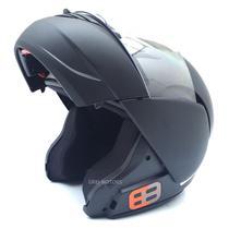 Capacete EBF E8 Articulado (Robocop) Preto Fosco -