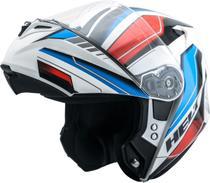 Capacete Escamoteável Helt 938 New Hippo Rider II Branco/Azul -