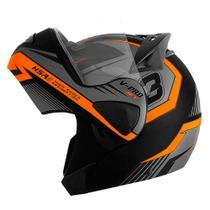 Capacete escamoteavel robocop de moto pro tork v-pro jet 3 laranja tam 62 -
