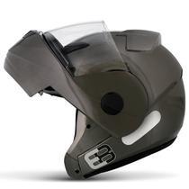 Capacete Escamoteável Robocop EBF Novo E8 Solid Chumbo Moto - Ebf Capacetes