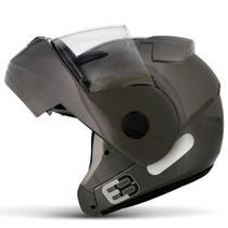 Capacete Escamoteável Robocop EBF Novo E8 Solid Chumbo Moto - Ebf Capacetes -