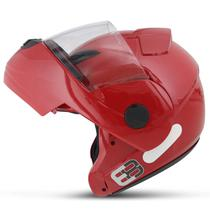 Capacete Escamoteável Robocop EBF Novo E8 Solid Vermelho Moto - EBF Capacetes
