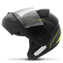 Capacete Escamoteável Robocop EBF Novo E8 V Power Preto Fosco e Amarelo Moto - Ebf Capacetes