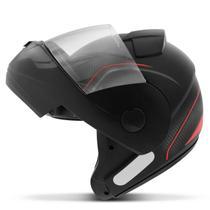 Capacete Escamoteável Robocop EBF Novo E8 V Power Preto Fosco e Vermelho Moto - Ebf Capacetes