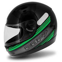 Capacete Fechado EBF 7 Carbon Preto E Verde - Ebf capacetes