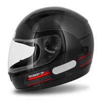 Capacete Fechado EBF 7 GT Preto e Vermelho - Ebf capacetes