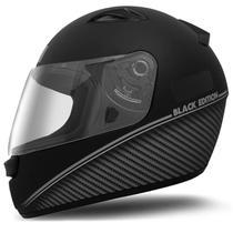 Capacete Fechado EBF New Spark Black Edition Preto Fosco e Prata - Ebf capacetes