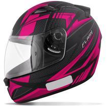 Capacete Fechado EBF New Spark Flash Preto Fosco e Rosa Moto - Ebf capacetes