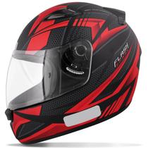 Capacete Fechado EBF New Spark Flash Preto Fosco e Vermelho Moto - Ebf capacetes