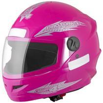 Capacete Fechado Moto Feminino Rosa New Liberty Four Pro Tork -