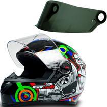 Capacete Fechado Moto Gt Turbo Preto Tam 58 + Viseira Fumê - Fw3