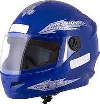 Capacete Fechado Moto Masculino Azul New Liberty Four Pro Tork -