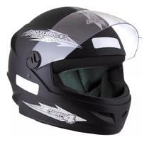 Capacete Fechado Moto Masculino Preto Fosco New Liberty Four Pro Tork -
