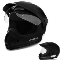 Capacete Fechado Motocross EBF Motard Solid com Forro Antialérgico Viseira e Entrada de Ar - Ebf Capacetes