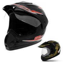 Capacete Fechado Motocross EBF Motard Street - Ebf Capacetes