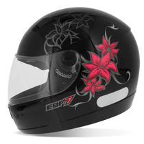 Capacete Fechado New EBF 7 Femme Preto Rosa Cinza Moto - EBF Capacetes