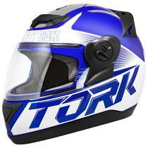 Capacete Fechado Pro Tork Evolution G7 Azul E Cinza Brilhante -