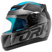 Capacete Fechado Pro Tork Evolution G7 Preto E Azul Brilhante -